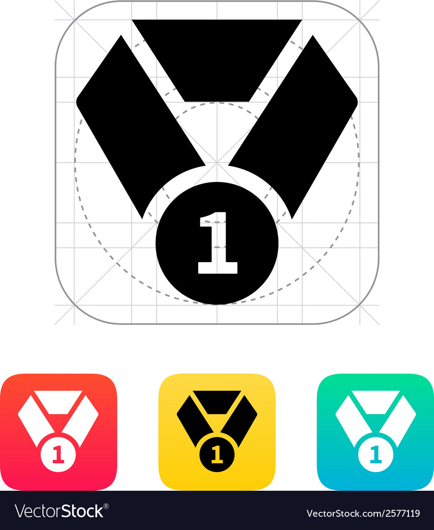 Medal icon vector | Price: 1 Credit (USD $1)