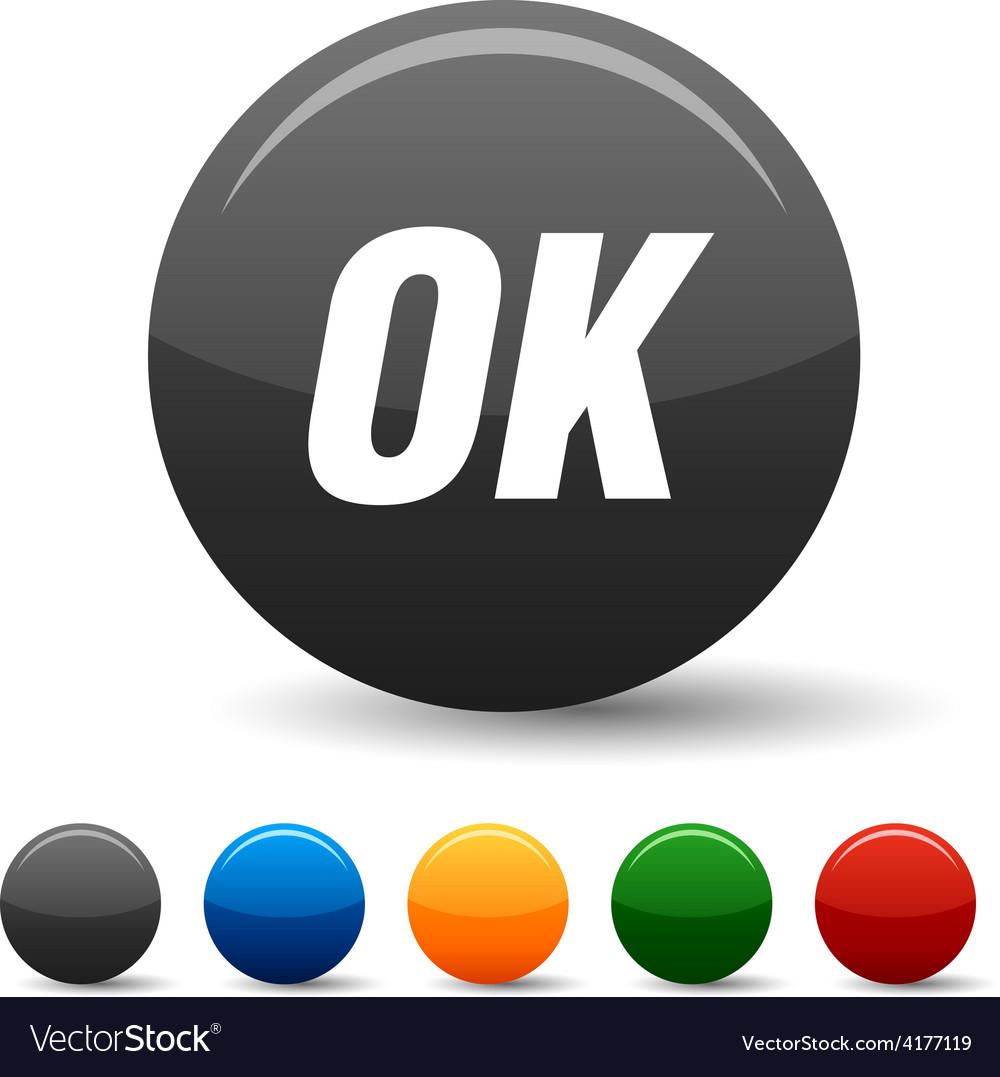 Ok icons vector | Price: 1 Credit (USD $1)
