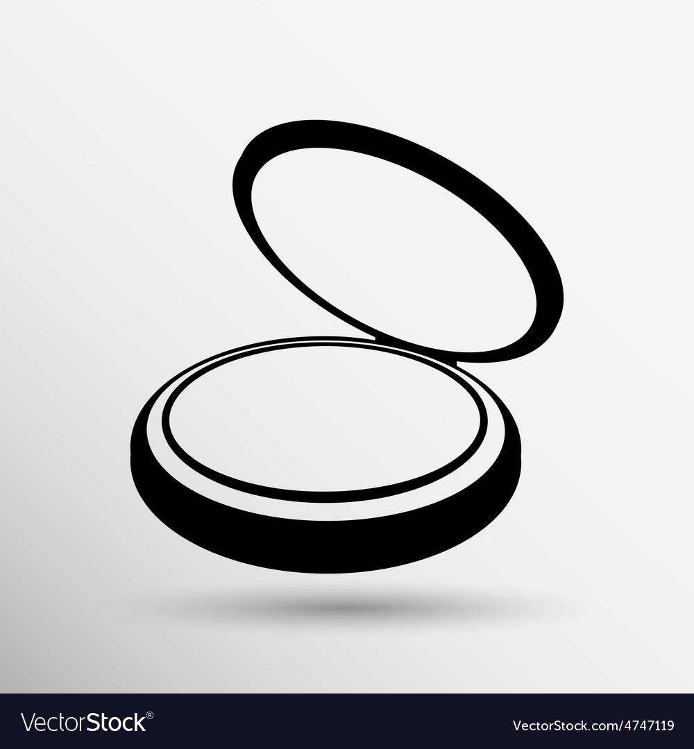 Palette liquid lipsticks flat square icon with vector | Price: 1 Credit (USD $1)
