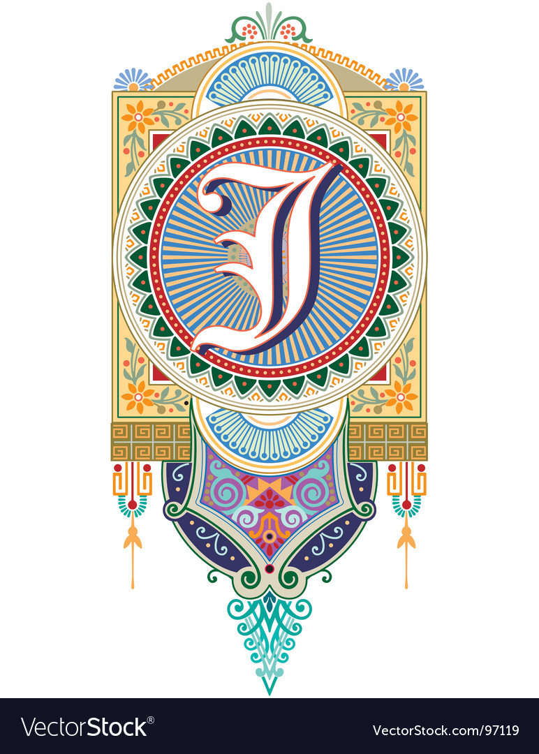 Royal letter j vector | Price: 1 Credit (USD $1)