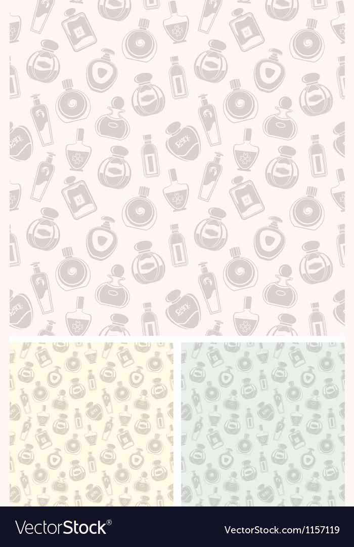 Seamless perfumes pattern vector