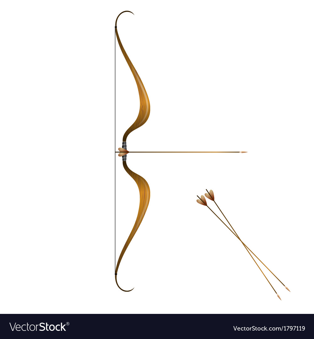 Vintage bow and arrows vector | Price: 1 Credit (USD $1)