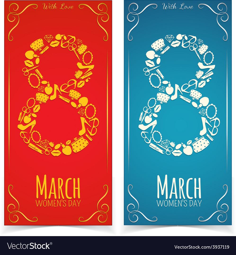 Women day banners vector