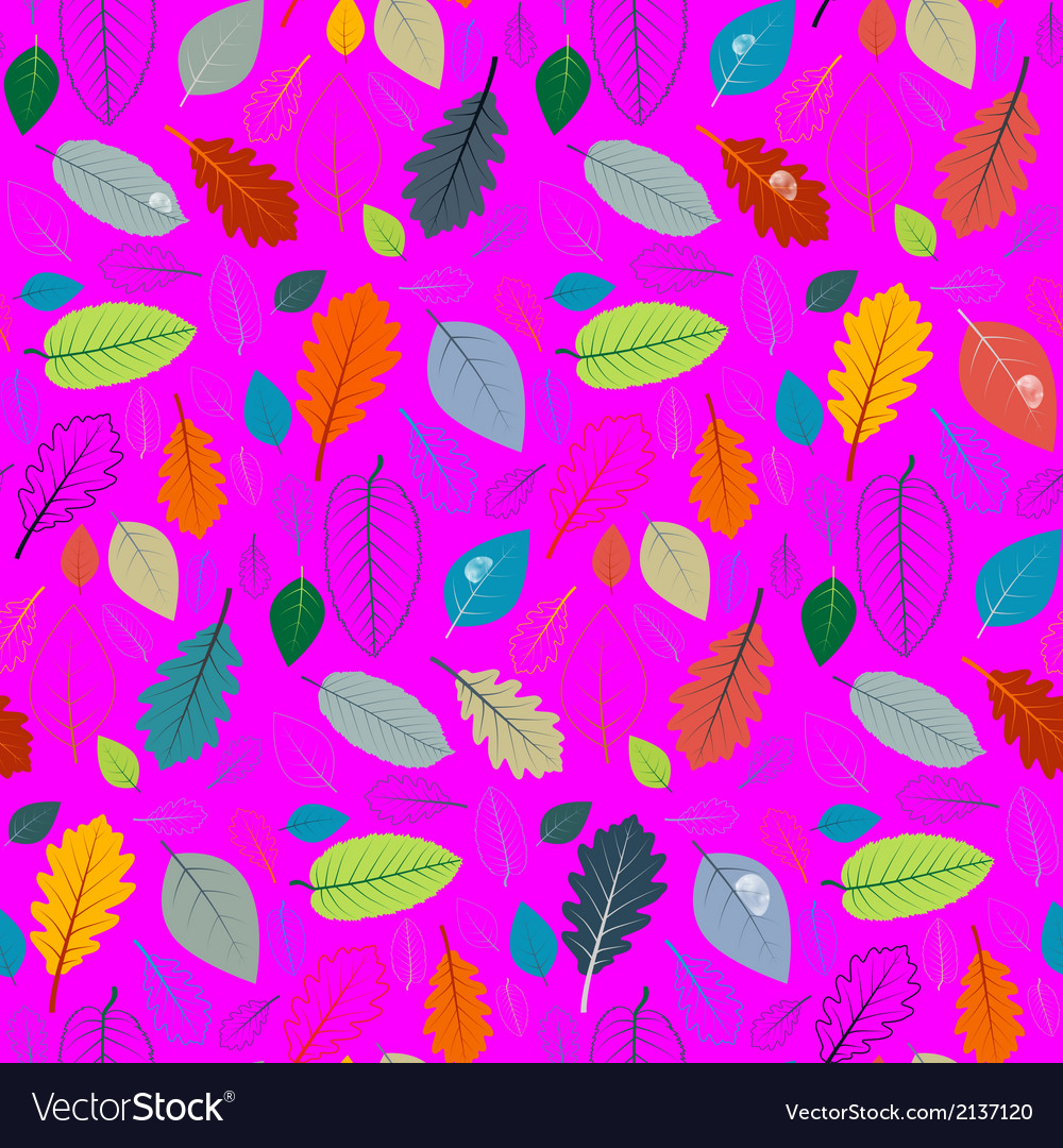 Abstract pink retro seamless pattern - autumn vector   Price: 1 Credit (USD $1)