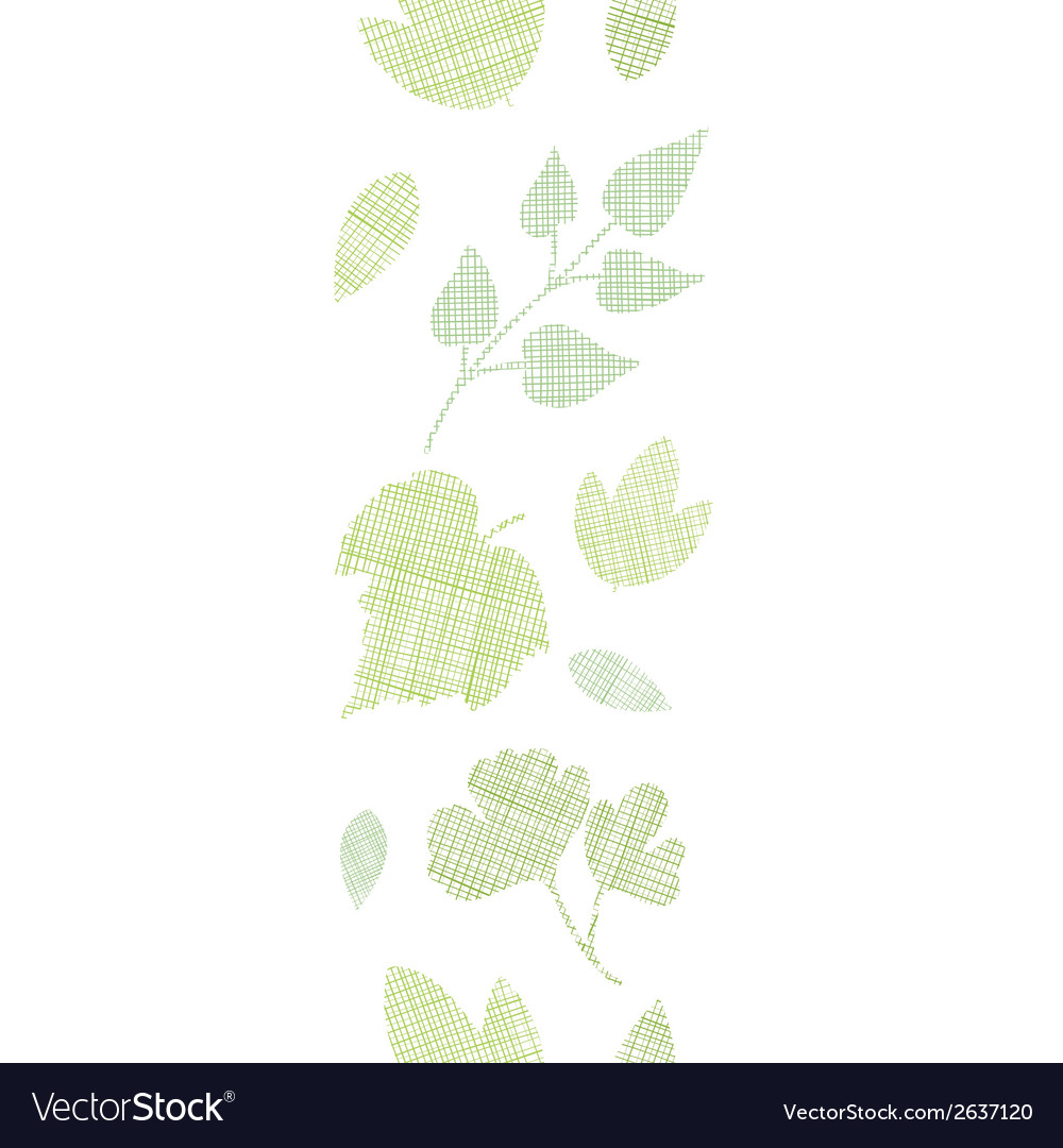 Abstract textile texture vertical border seamless vector | Price: 1 Credit (USD $1)