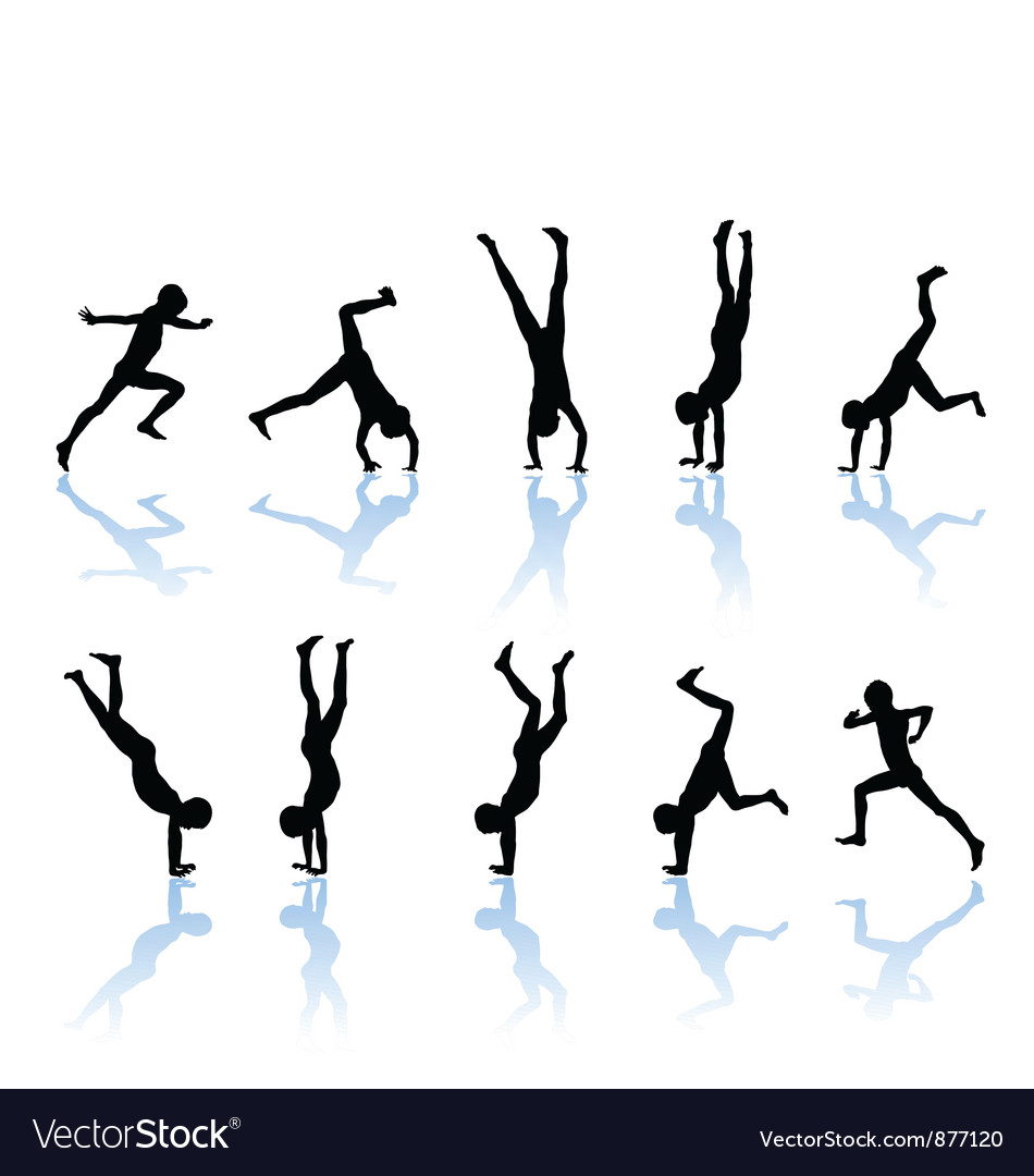 The boy somersault vector | Price: 1 Credit (USD $1)