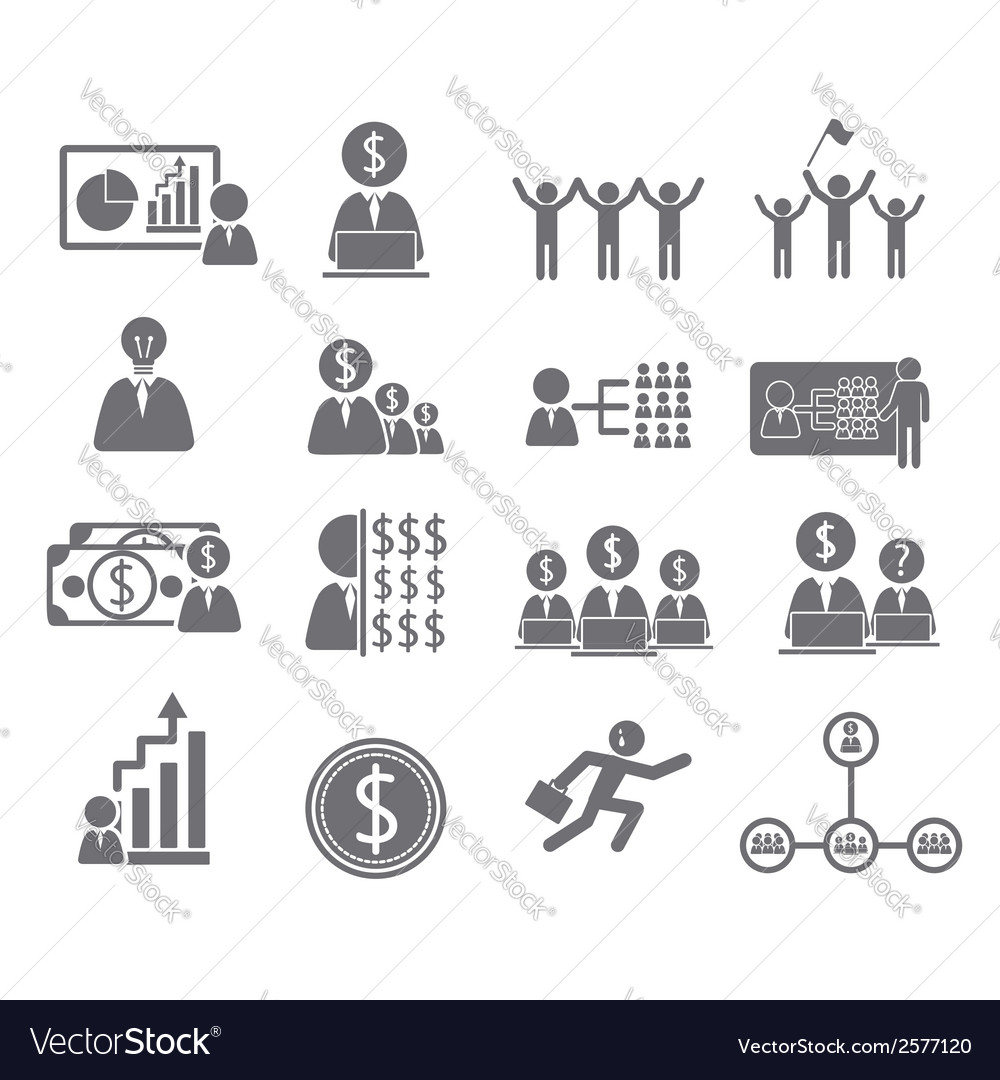 Business icons management and human vector | Price: 1 Credit (USD $1)