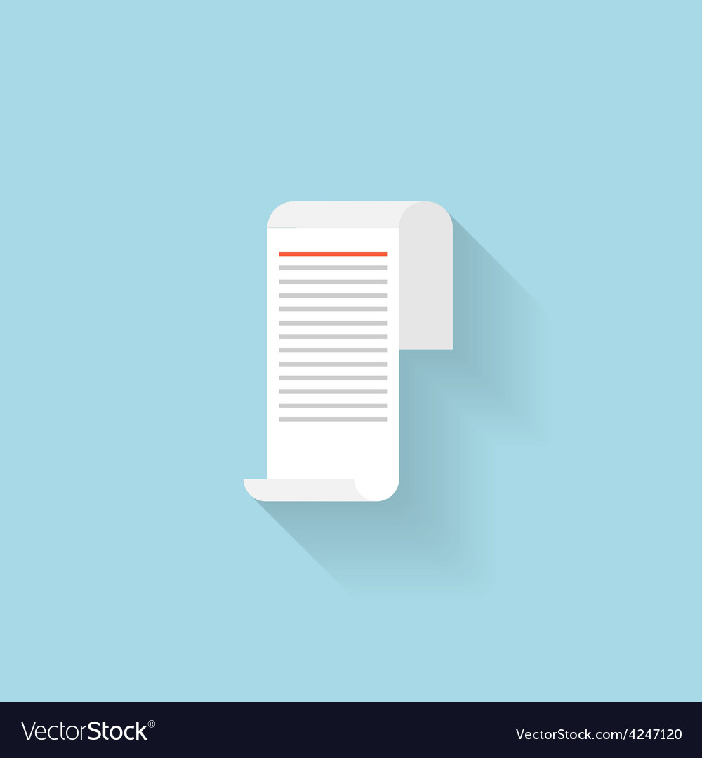 Flat web internet icon paper document letter vector | Price: 1 Credit (USD $1)