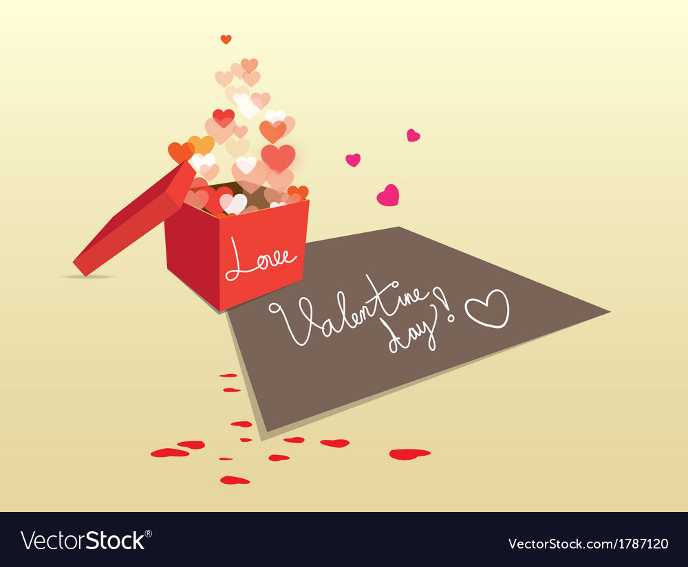 Gift box for valentine sweet love vector | Price: 1 Credit (USD $1)