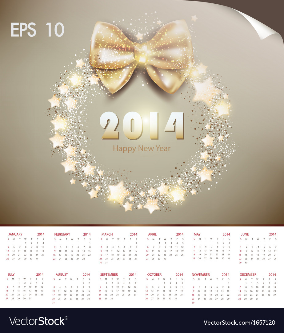 Happy new year 2014 celebration vector | Price: 1 Credit (USD $1)