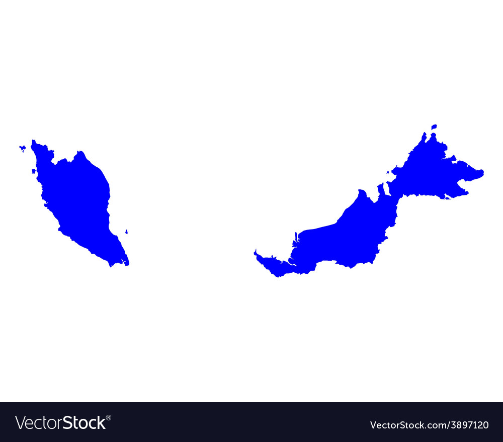 Map of malaysia vector | Price: 1 Credit (USD $1)