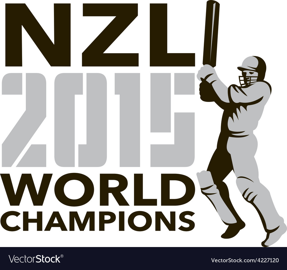 New zealand nz cricket 2015 world champions vector | Price: 1 Credit (USD $1)