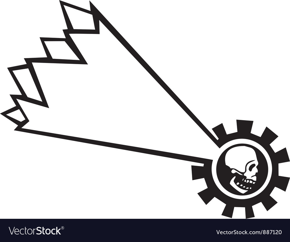 Shooting star skull vector | Price: 1 Credit (USD $1)