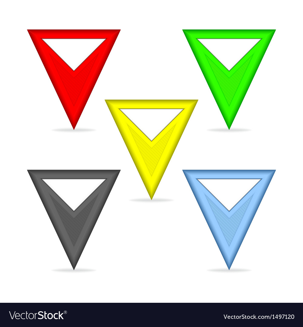 Triangular pointers vector | Price: 1 Credit (USD $1)