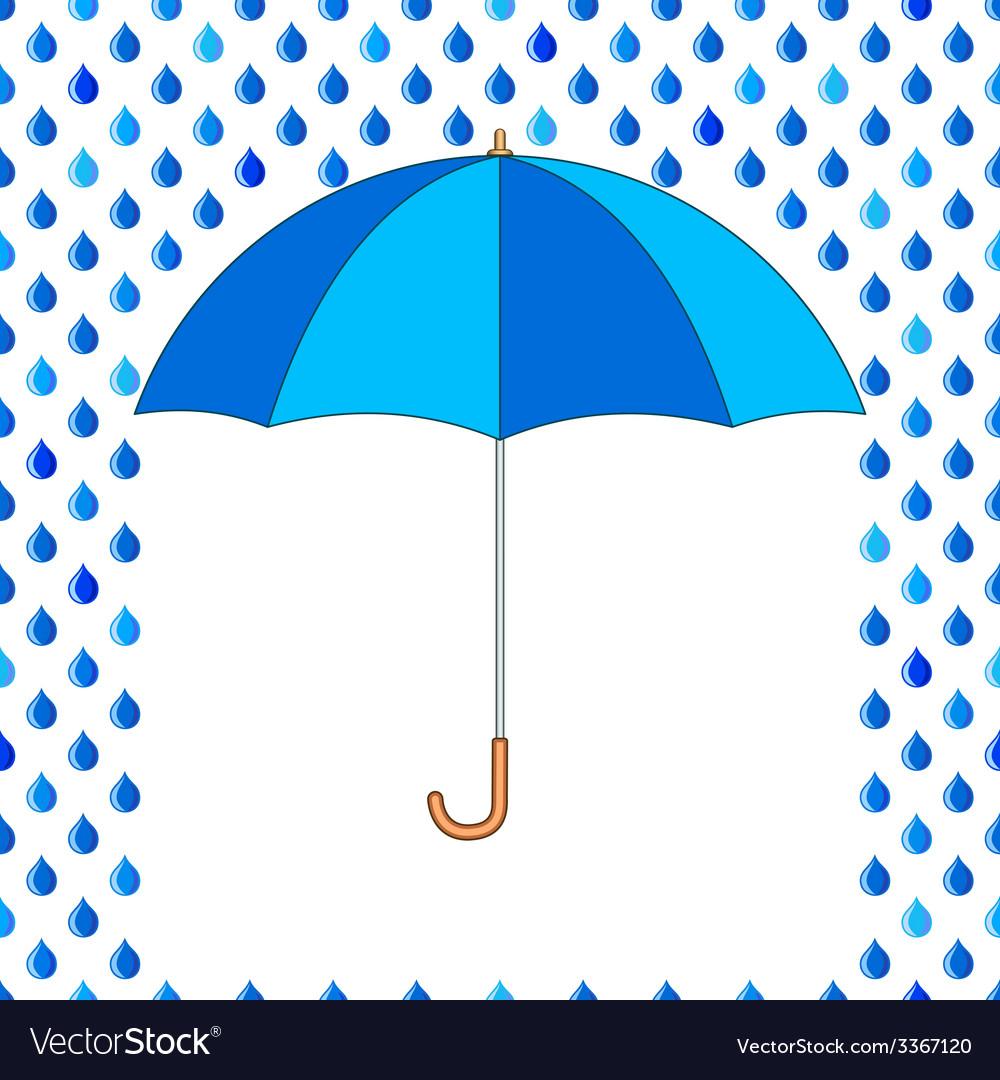 Umbrella and drops vector | Price: 1 Credit (USD $1)