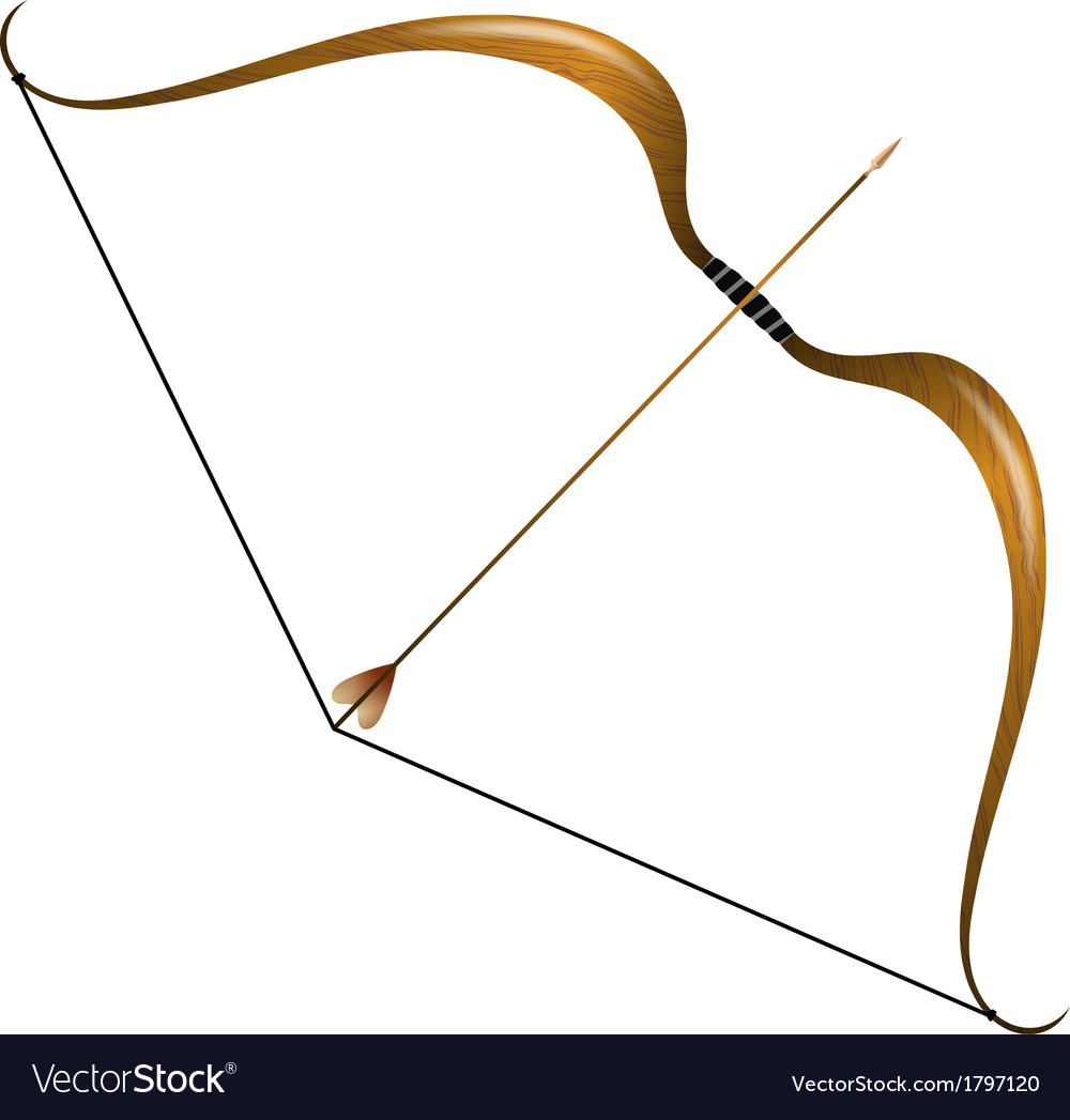 Vintage bow and arrow vector | Price: 1 Credit (USD $1)