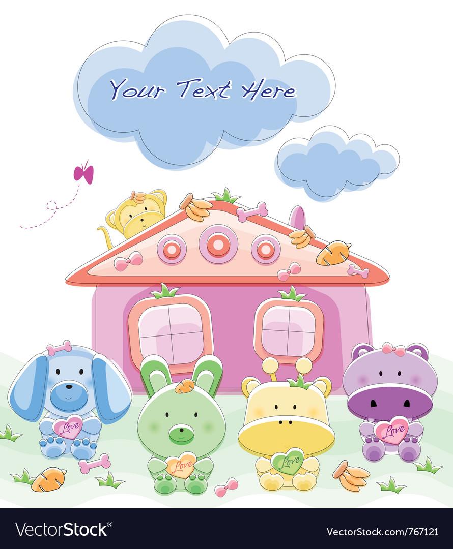 Baby card vector | Price: 1 Credit (USD $1)