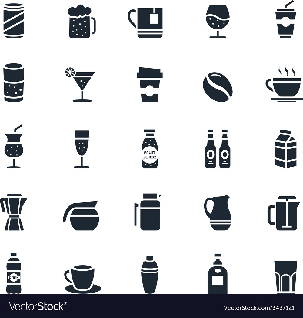 Beverage icon vector | Price: 1 Credit (USD $1)