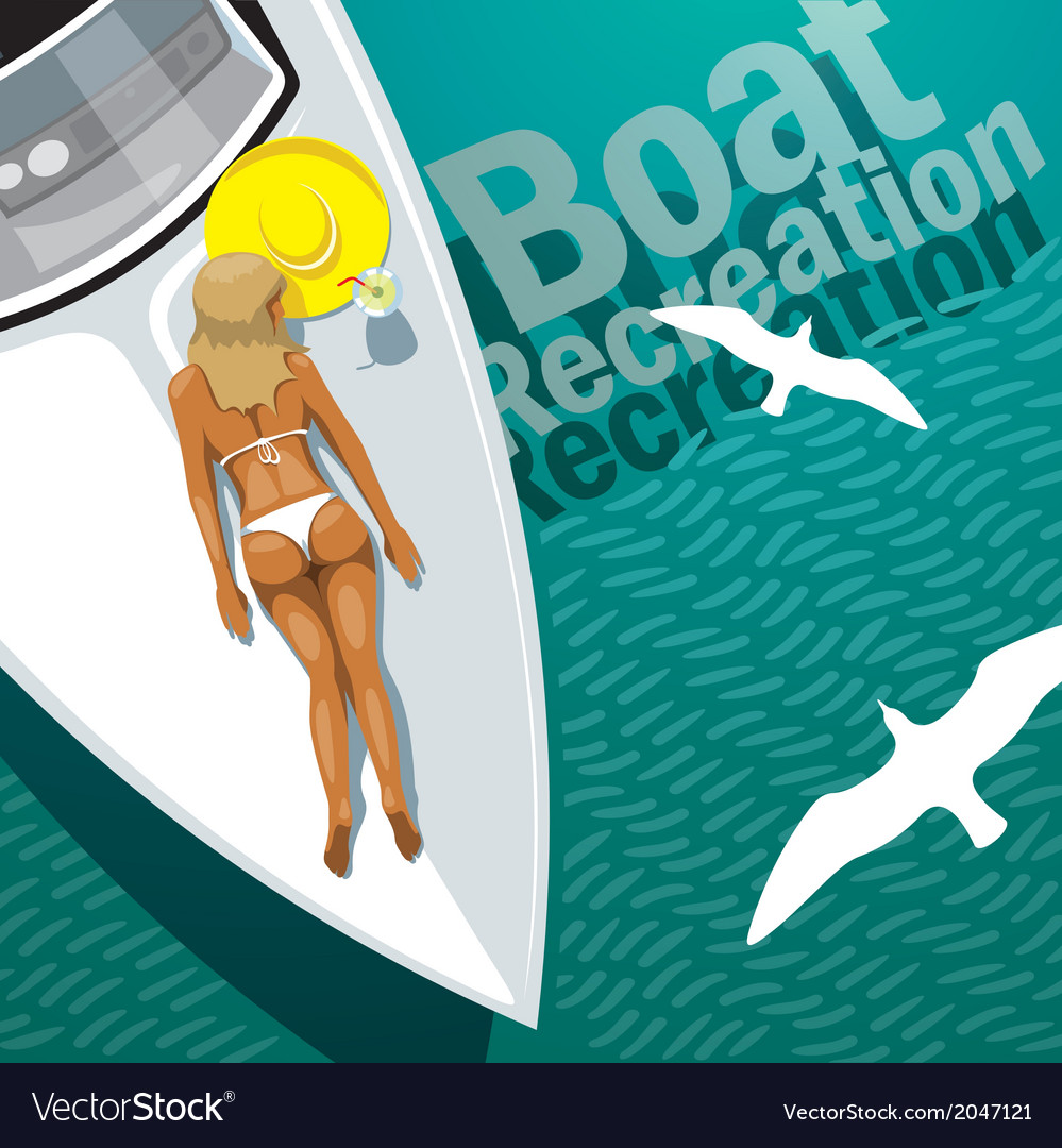 Boat recreation vector | Price: 1 Credit (USD $1)