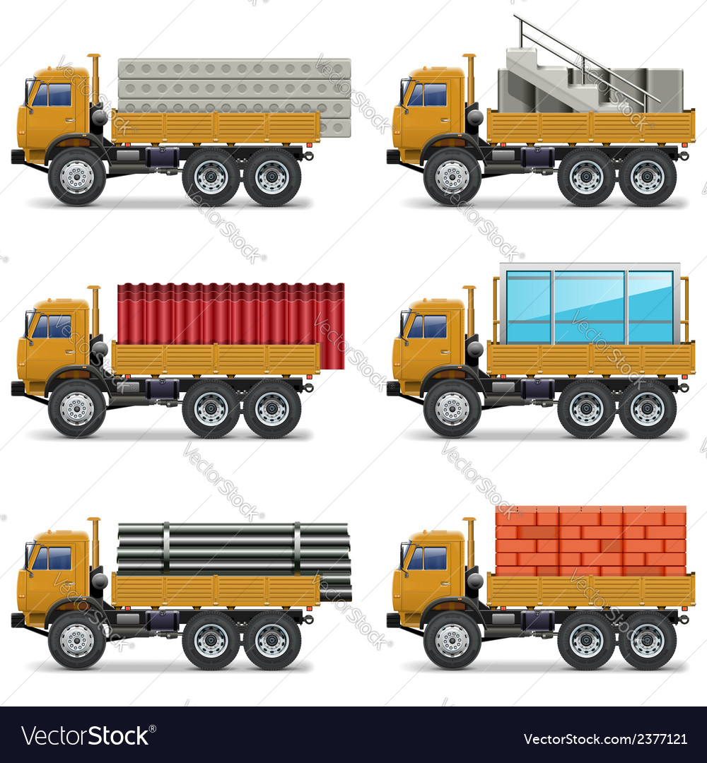 Construction trucks vector | Price: 3 Credit (USD $3)