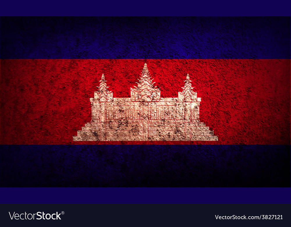 Flag of cambodia with old texture vector   Price: 1 Credit (USD $1)