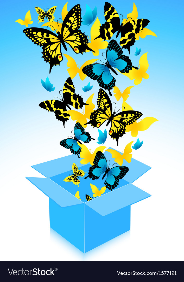 Flying out butterflies vector | Price: 1 Credit (USD $1)