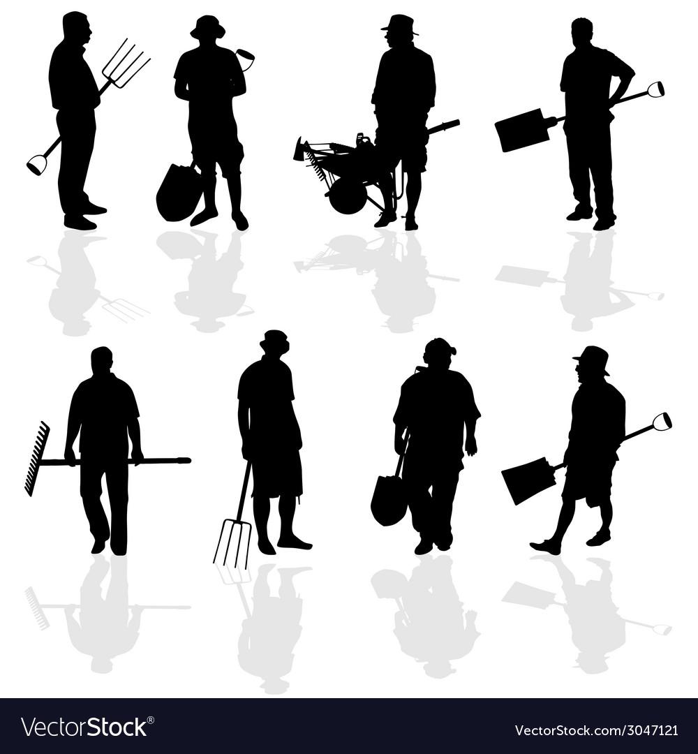 Gardener people vector | Price: 1 Credit (USD $1)