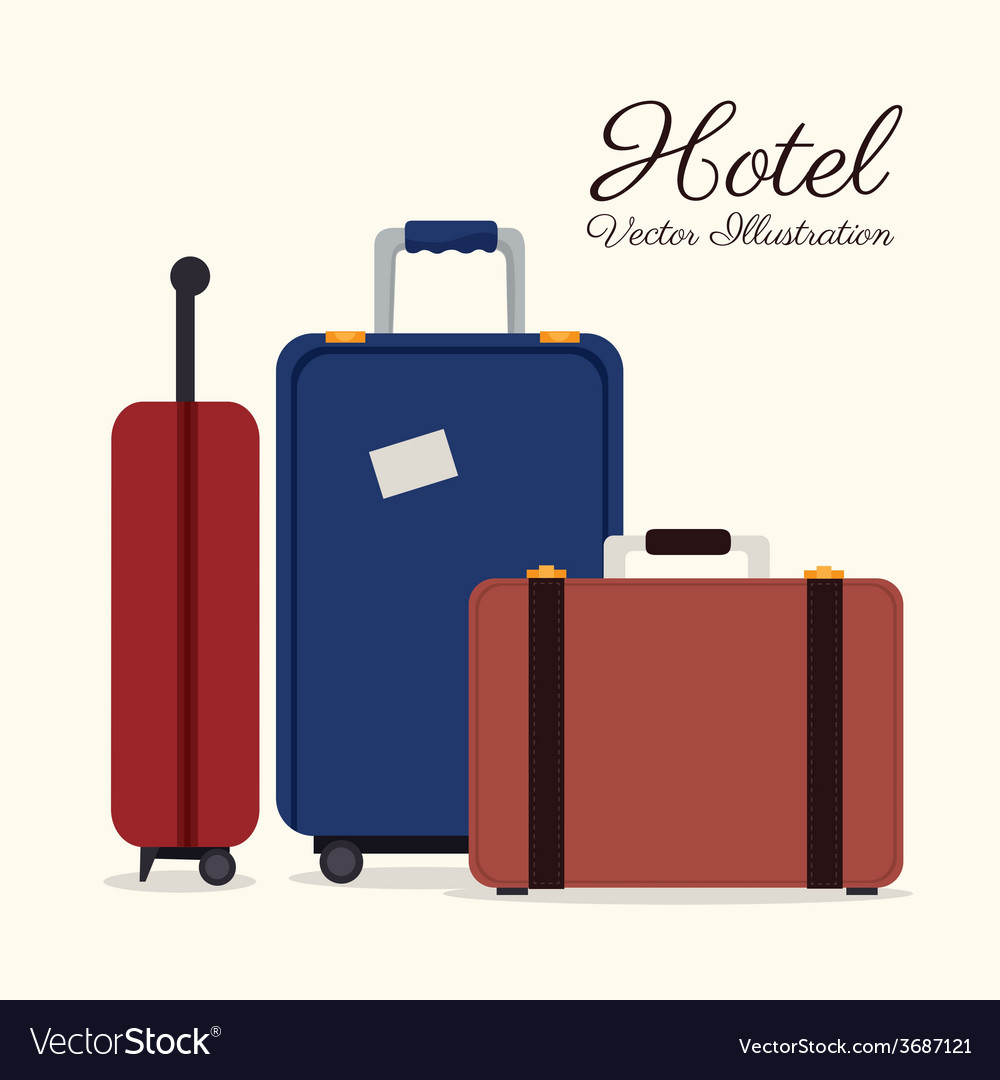 Hotel design over white background vector | Price: 1 Credit (USD $1)