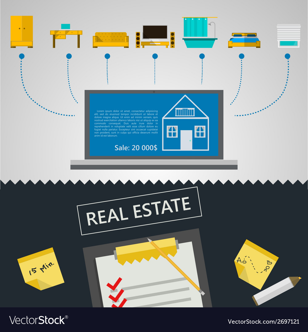 Infographic for sale of real estate vector   Price: 1 Credit (USD $1)