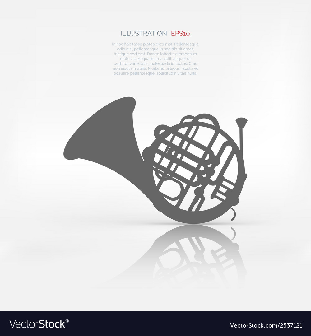 Music wind instruments icon vector   Price: 1 Credit (USD $1)