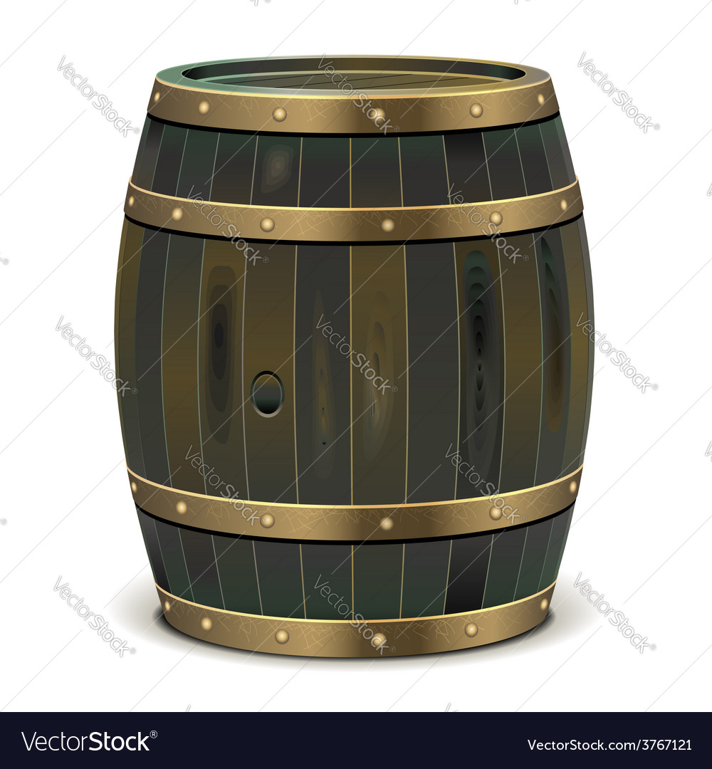 Old barrel vector | Price: 3 Credit (USD $3)