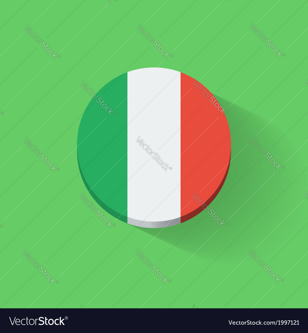 Round icon with flag of italy vector   Price: 1 Credit (USD $1)