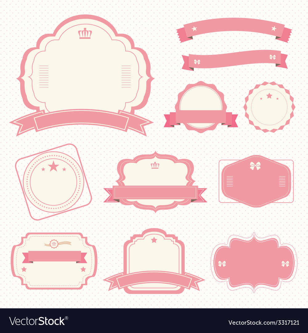 Vintage style sale tags design vector | Price: 1 Credit (USD $1)