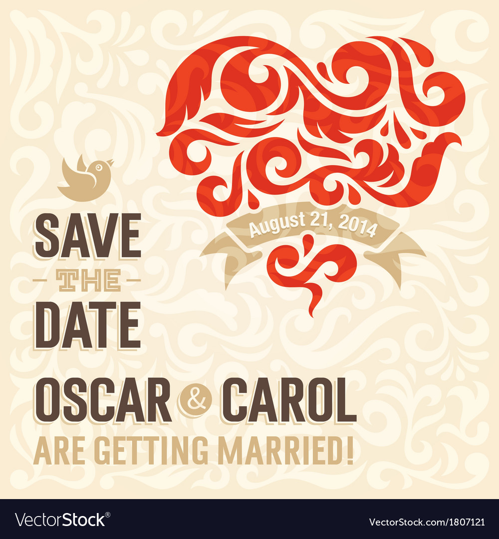 Wedding invitation 3 vector | Price: 1 Credit (USD $1)
