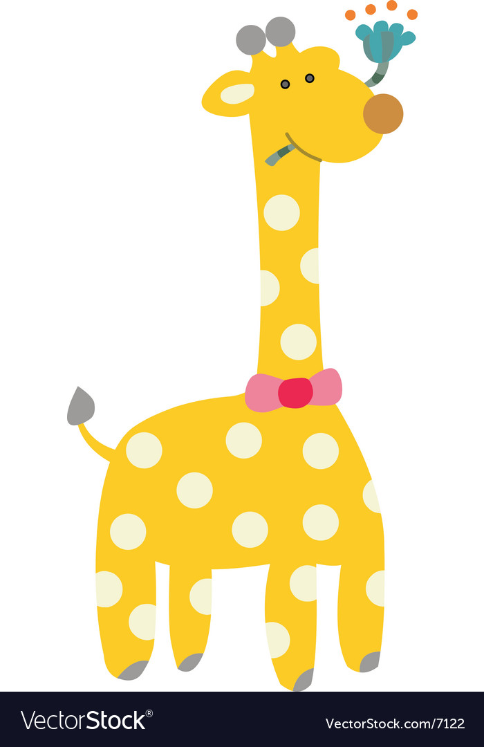 A cute s giraffe cartoon vector