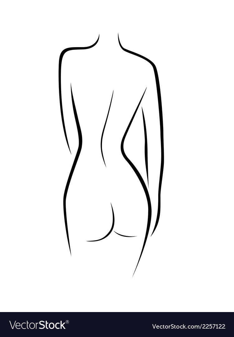 Abstract female back contour vector | Price: 1 Credit (USD $1)