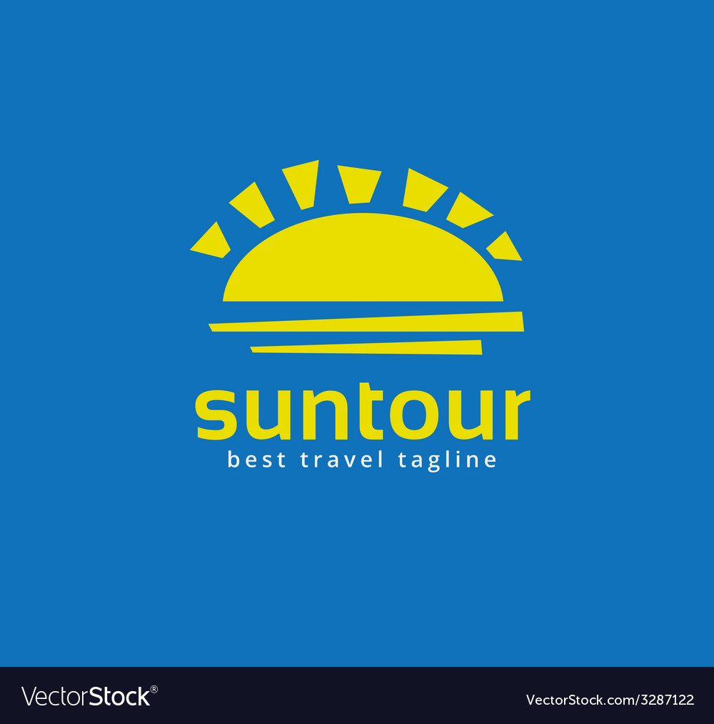 Abstract travel sun logo icon concept logotype vector | Price: 1 Credit (USD $1)