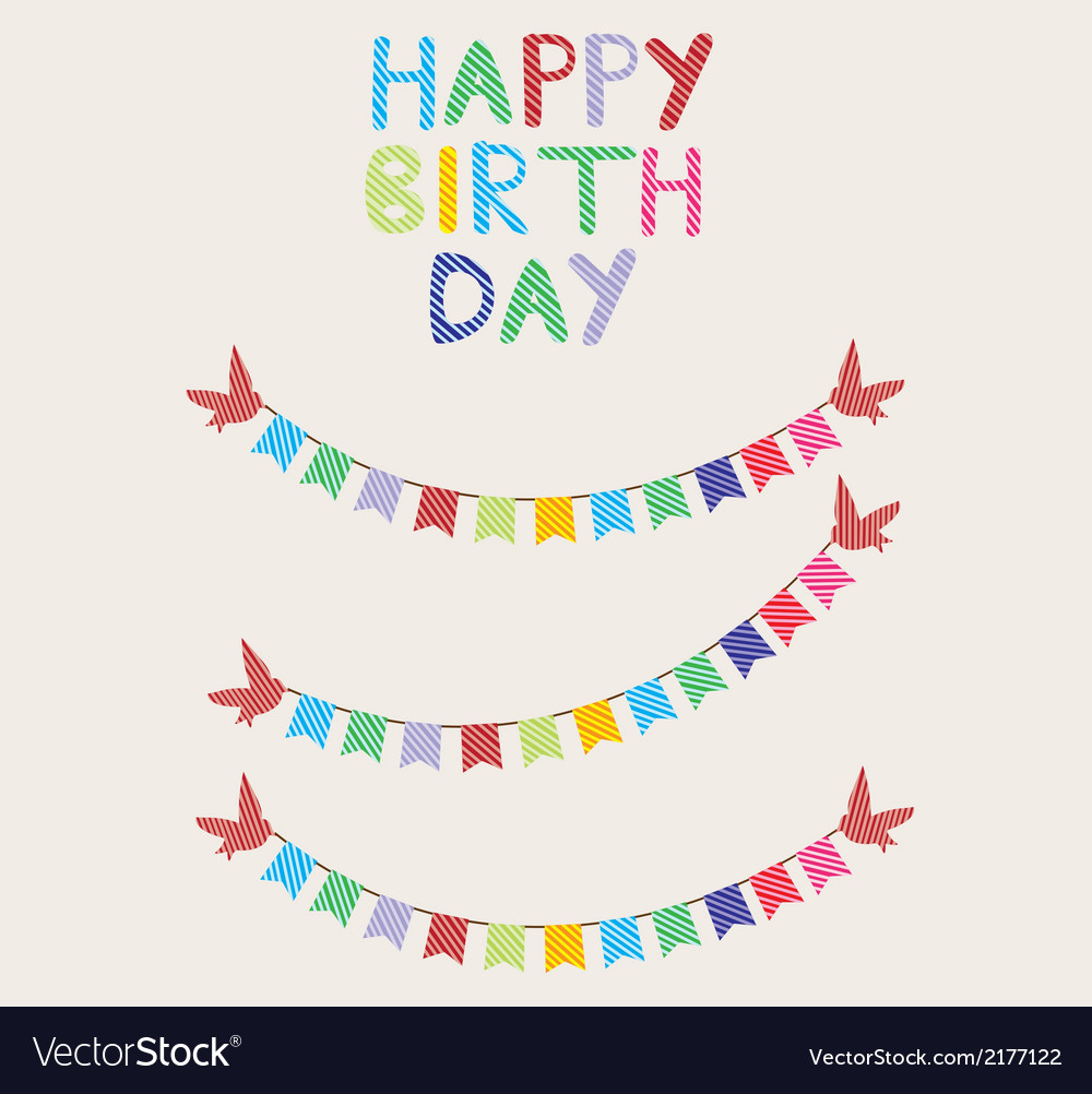 Bunting birthday card vector | Price: 1 Credit (USD $1)