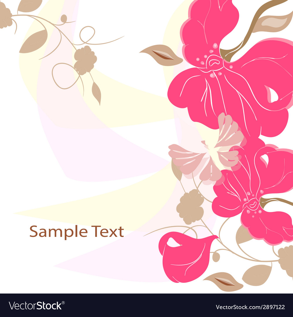 Floral background card frame vector | Price: 1 Credit (USD $1)
