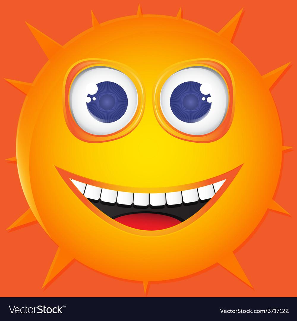 Funny sun smile vector | Price: 1 Credit (USD $1)