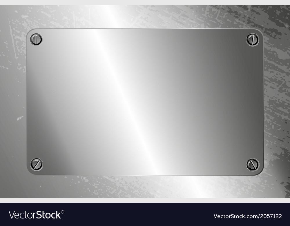 Metal frame with screws vector   Price: 1 Credit (USD $1)
