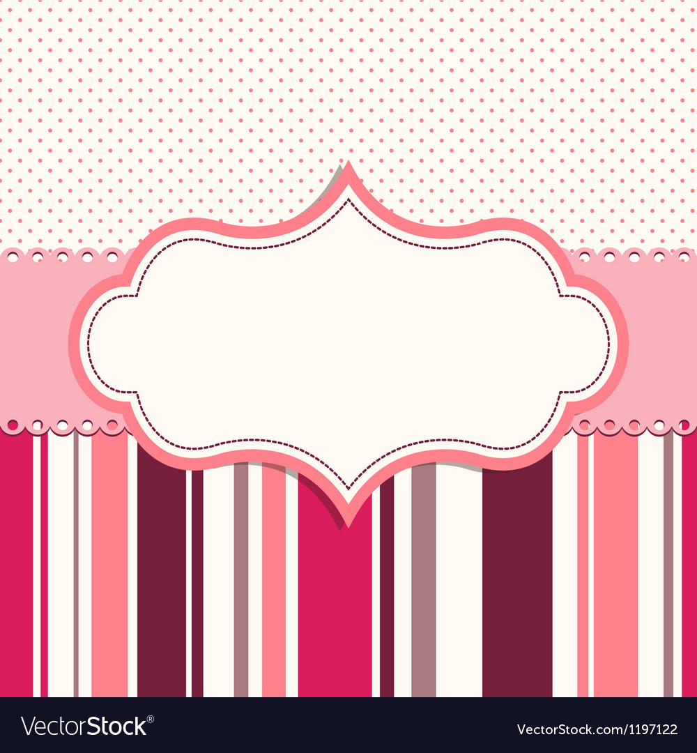 Pink frame for greeting card vector | Price: 1 Credit (USD $1)