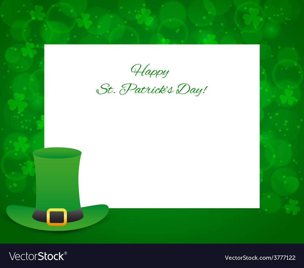 St patricks day background with card vector | Price: 1 Credit (USD $1)