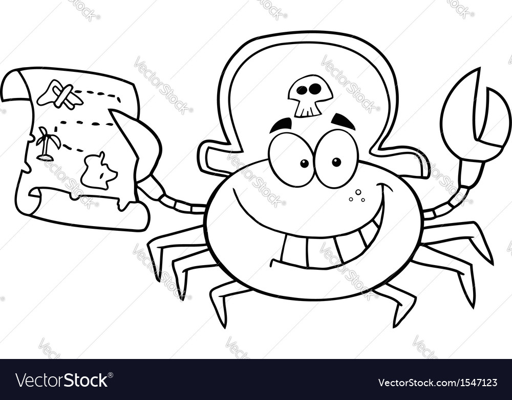 Beach crab cartoon vector | Price: 1 Credit (USD $1)