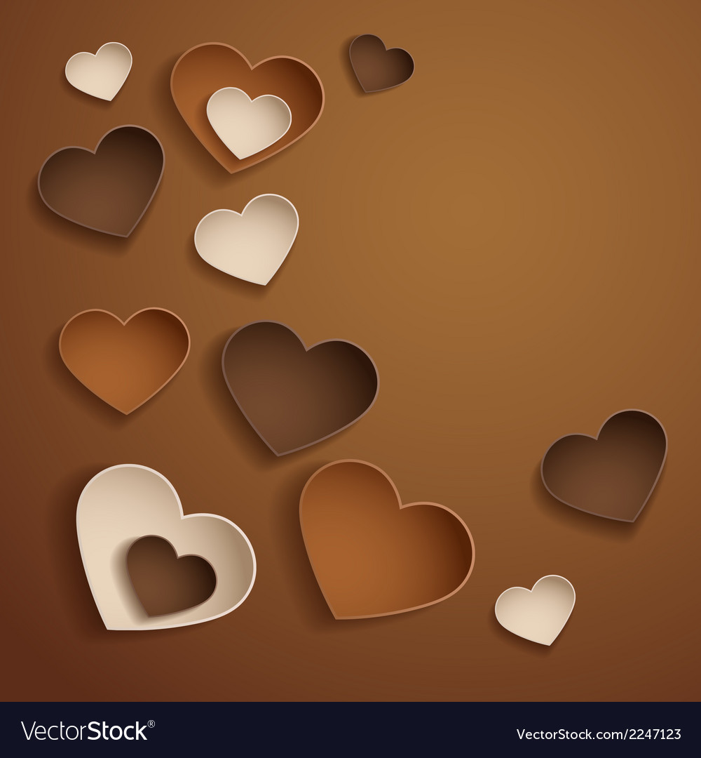 Chocolate hearts vector | Price: 1 Credit (USD $1)