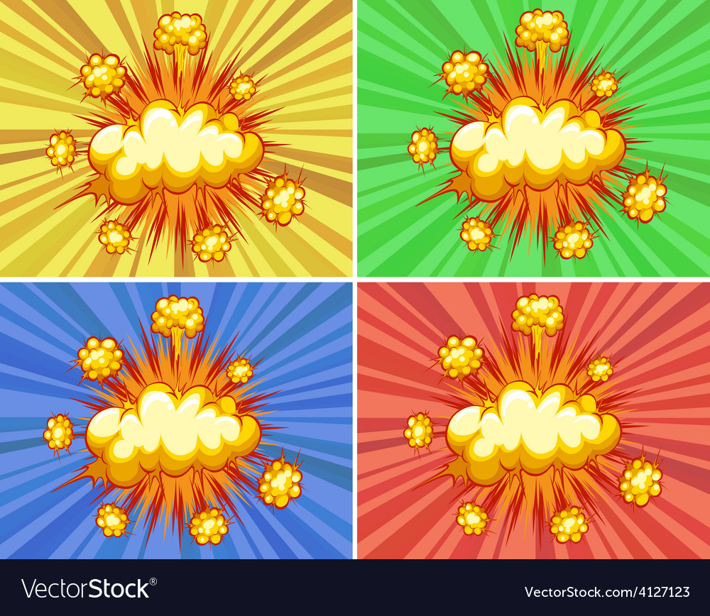 Explosions vector | Price: 1 Credit (USD $1)