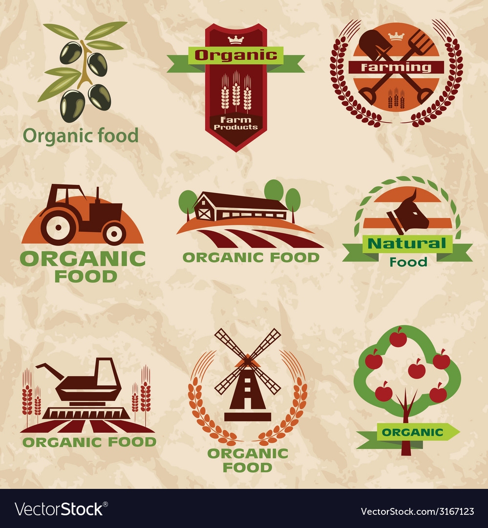 Farm agriculture icons labels collection set2 vector | Price: 1 Credit (USD $1)