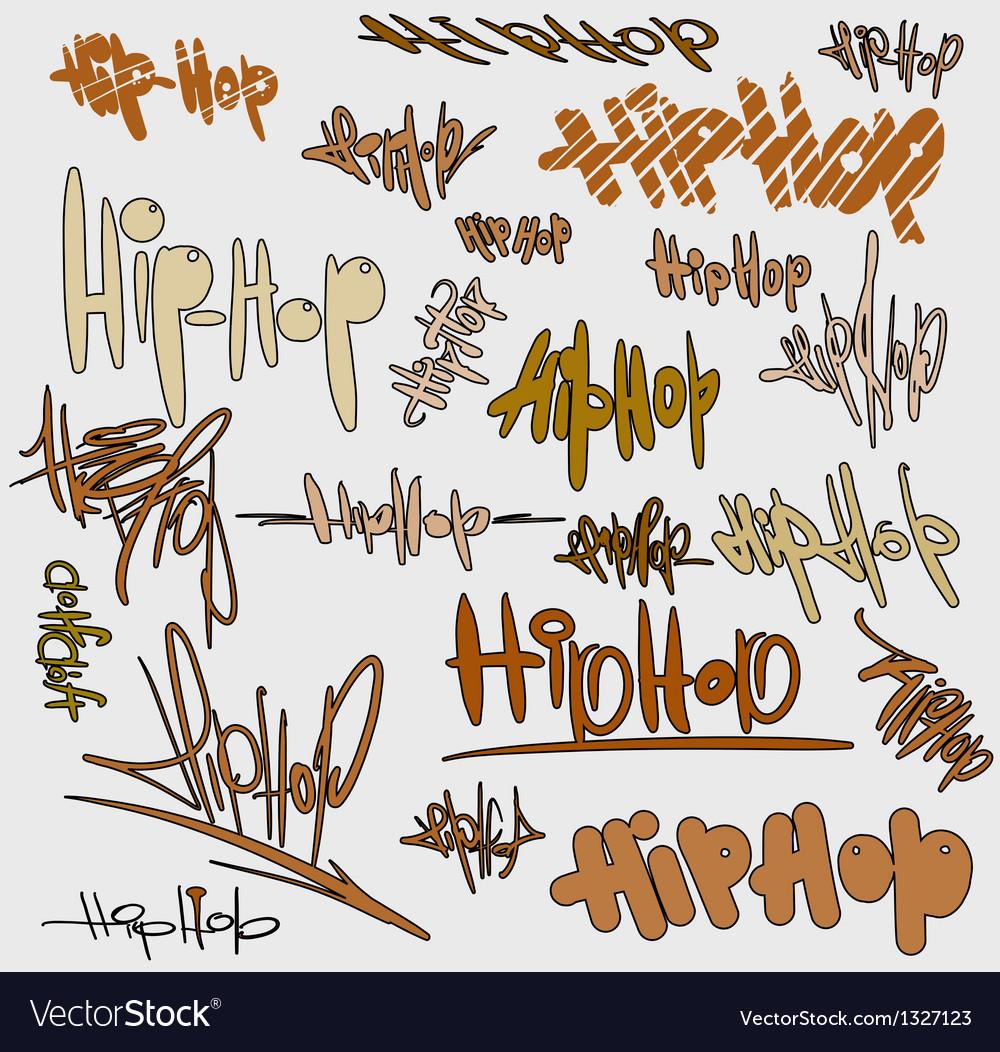 Graffiti tags urban signature vector | Price: 1 Credit (USD $1)