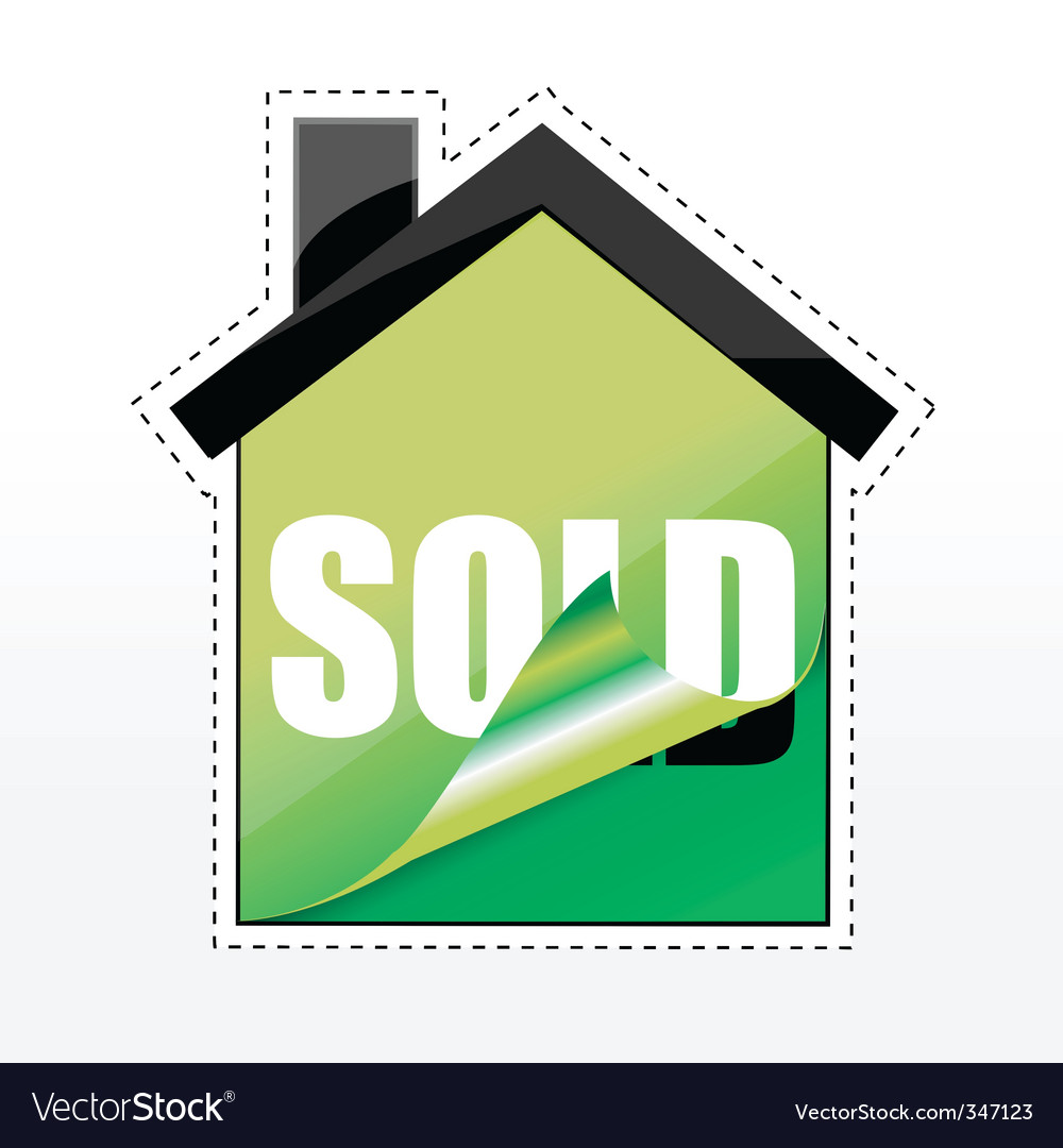 House sale tags vector | Price: 1 Credit (USD $1)
