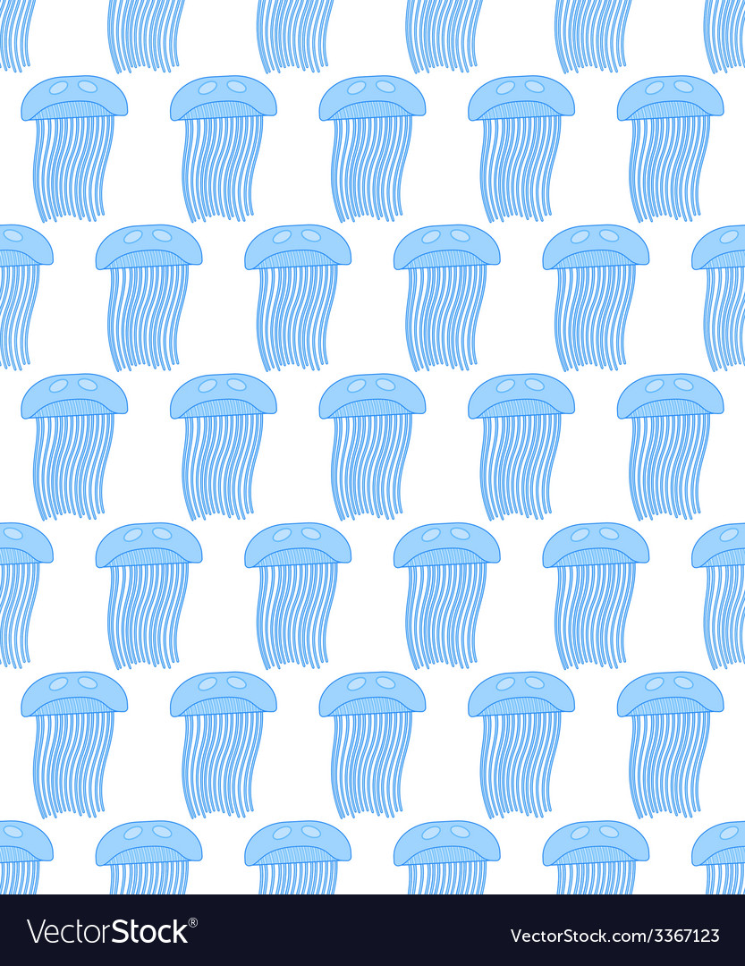 Jellyfish pattern vector | Price: 1 Credit (USD $1)
